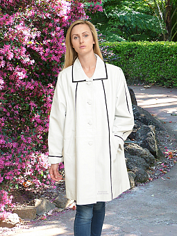 Higgs Leathers ALL SOLD!  Rosina (ladies White Leather coats)